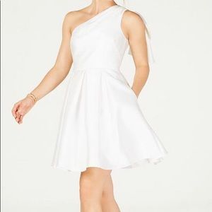 One-shoulder Fit & Flare Dress by Adriana Papell